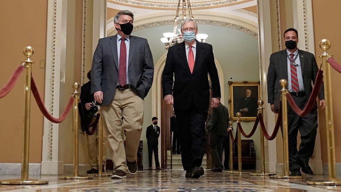 ميتش ماكونيل زعيم الأغلبية الجمهورية في مجلس الشيوخ (رويترز)