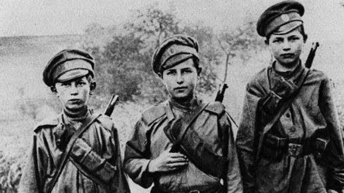 صورة لأطفال روس شاركوا بالحرب العالمية