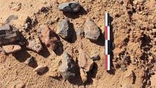 """التراث السعودية تعثر على فؤوس حجرية في """"شعيب الأدغم"""" بالقصيم"""