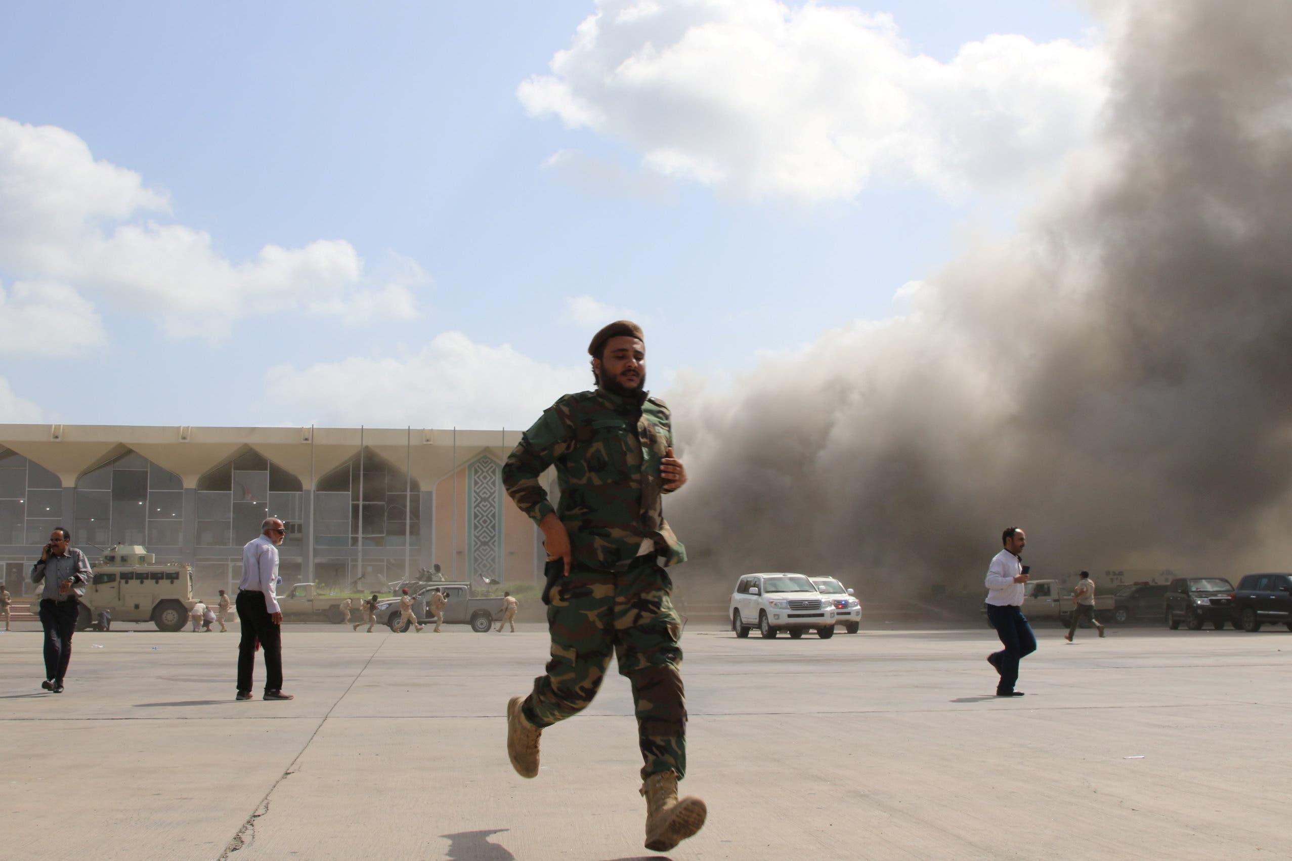 از بمباران فرودگاه عدن ، یمن