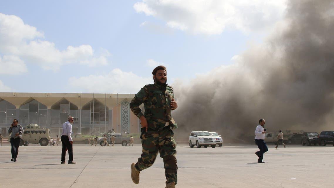 من تفجير مطار عدن باليمن