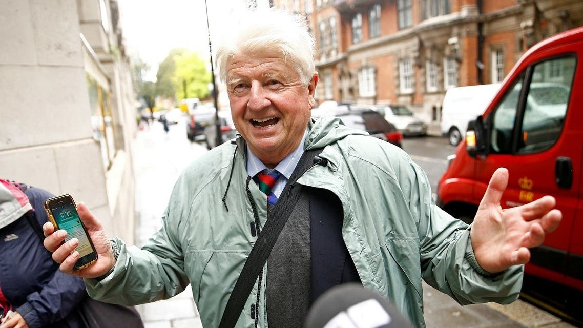Stanley Johnson, father of Britain's Prime Minister Boris Johnson, seen in Westminster, in London, Britain. (File photo: Reuters)
