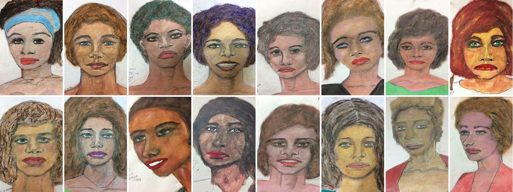 بعض ضحايا ليتل رسمها بيده خلال اعترافاته