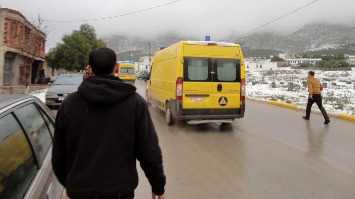 File photo of an ambulance in Algeria. (AP)