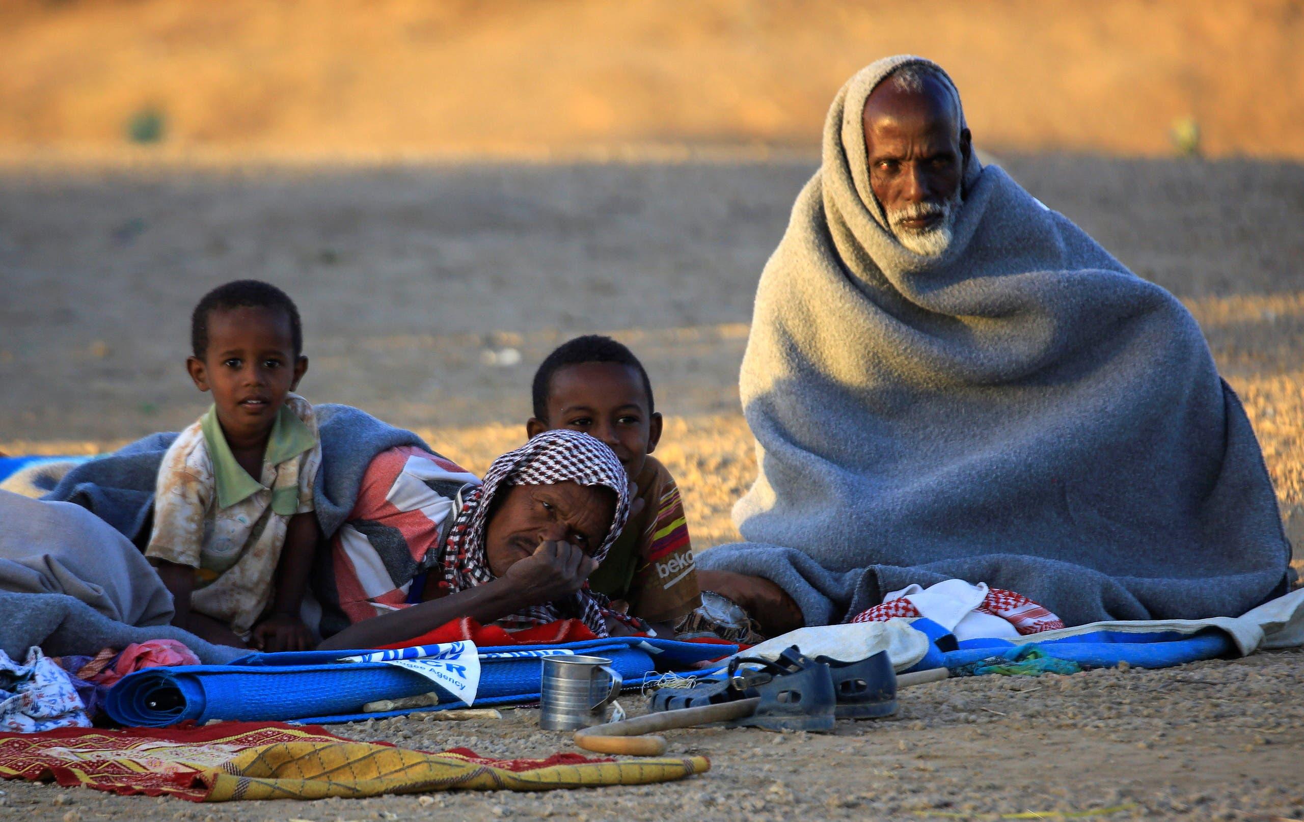 پناهندگان اتیوپیایی برای جلوگیری از جنگ به سودان فرار می کنند