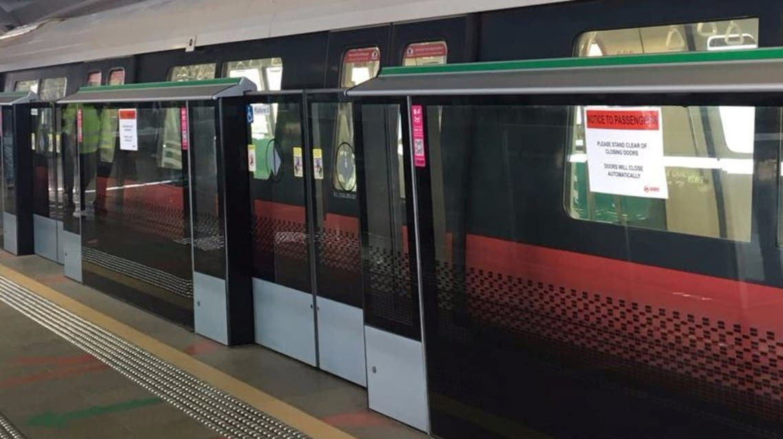 A train is seen at a platform at Joo Koon station in Singapore November 15, 2017. (Reuters)