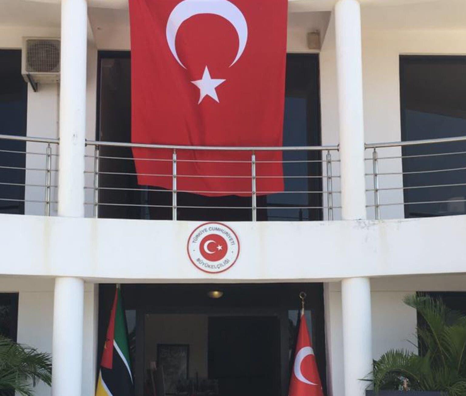 مبنى السفارة التركية في عاصمة موزمبيق مابوتو