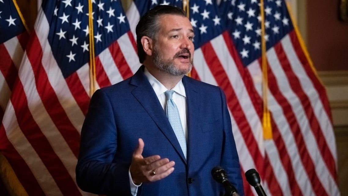 Senator Ted Cruz, R-TX, speaks during a press conference on Capitol Hill, October 26, 2020. (AFP)
