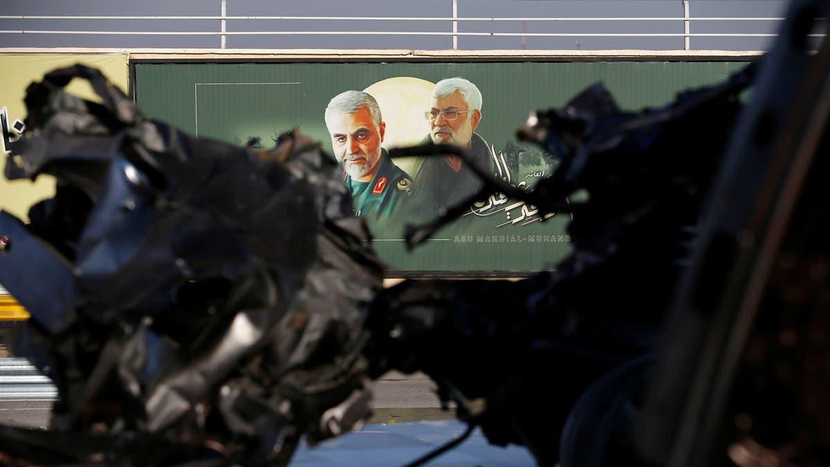 فيديو جديد ينشر لأول مرة.. لحظة قصف سيارة سليماني