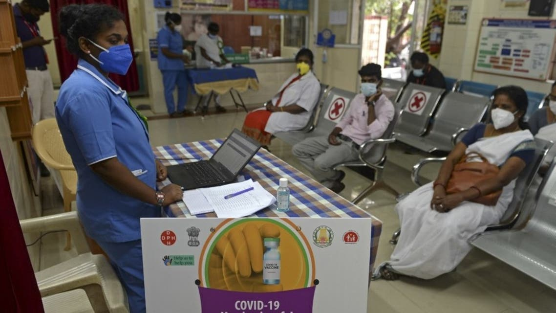Health officials take part in dry run or a mock drill for Covid-19 coronavirus vaccine delivery at a primary health centre in Chennai on January 2, 2021. (AFP)