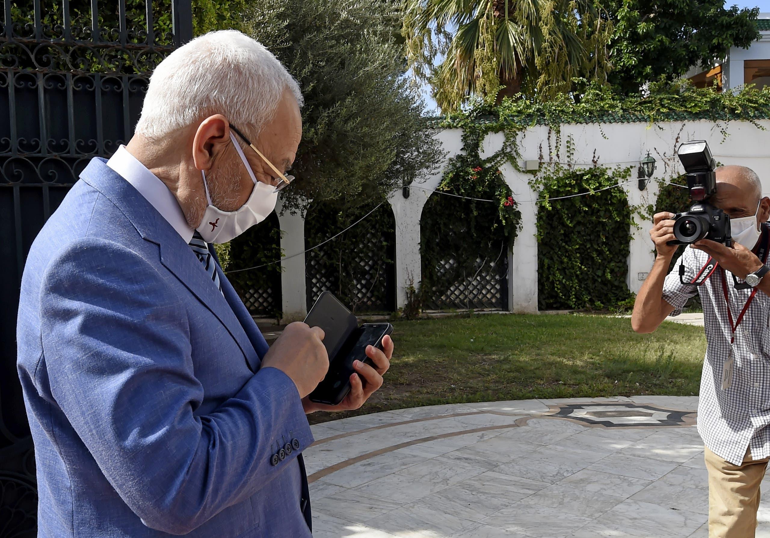 راشد الغنوشي (أرشيفية- فرانس برس)