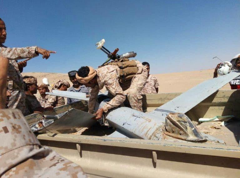 الجيش اليمني يسقط مسيرة درون حوثية
