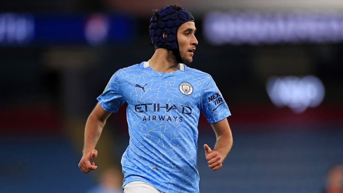 Manchester City's Spanish defender Eric Garcia at the Etihad Stadium in Manchester, north-west of England, on September 24, 2020. (Mike Egerton/Pool/AFP)