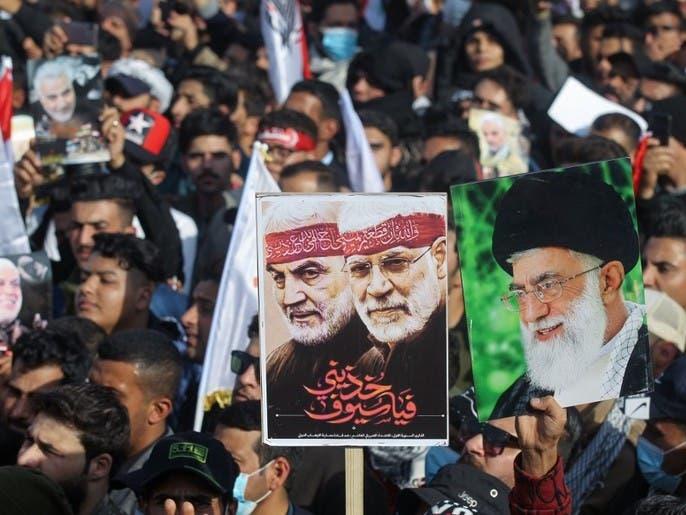 الحشد يردد نشيد إيران الوطني بالفارسية بأحد شوارع البصرة