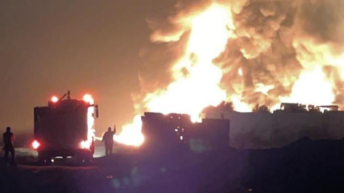 حريق منطقة القصير