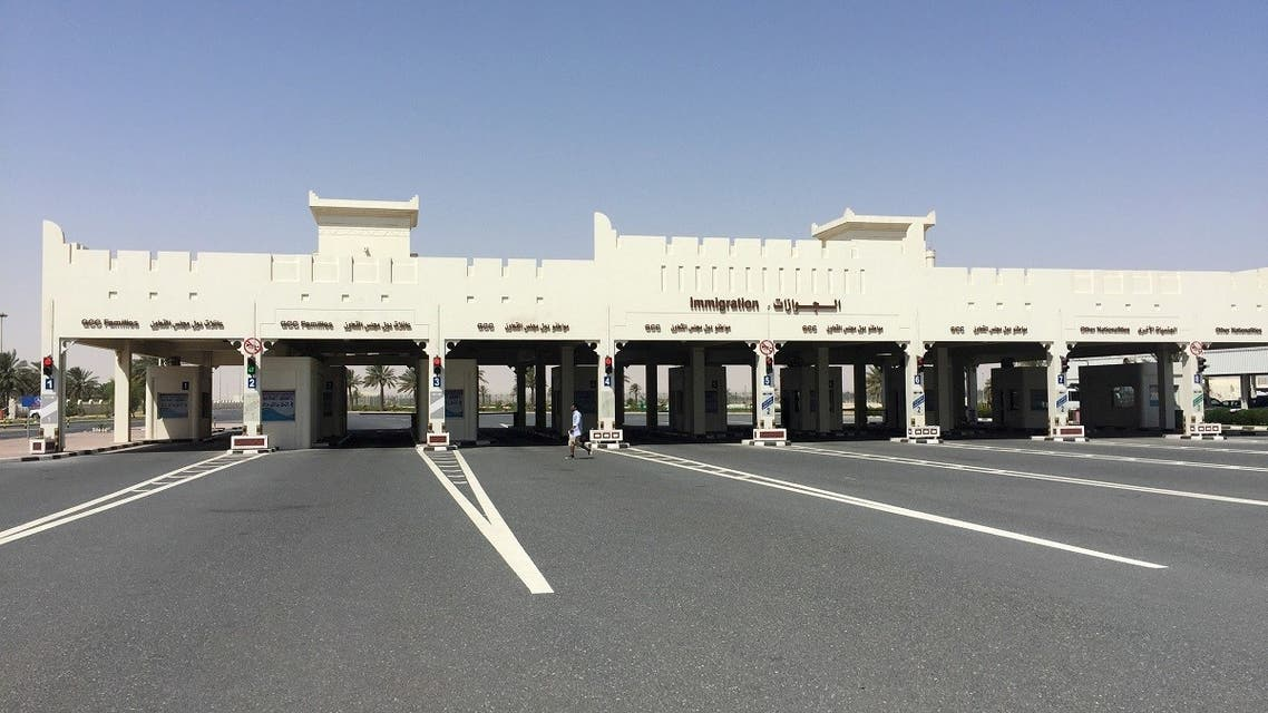A view shows Abu Samra border crossing to Saudi Arabia, in Qatar June 12, 2017.  (Reuters)