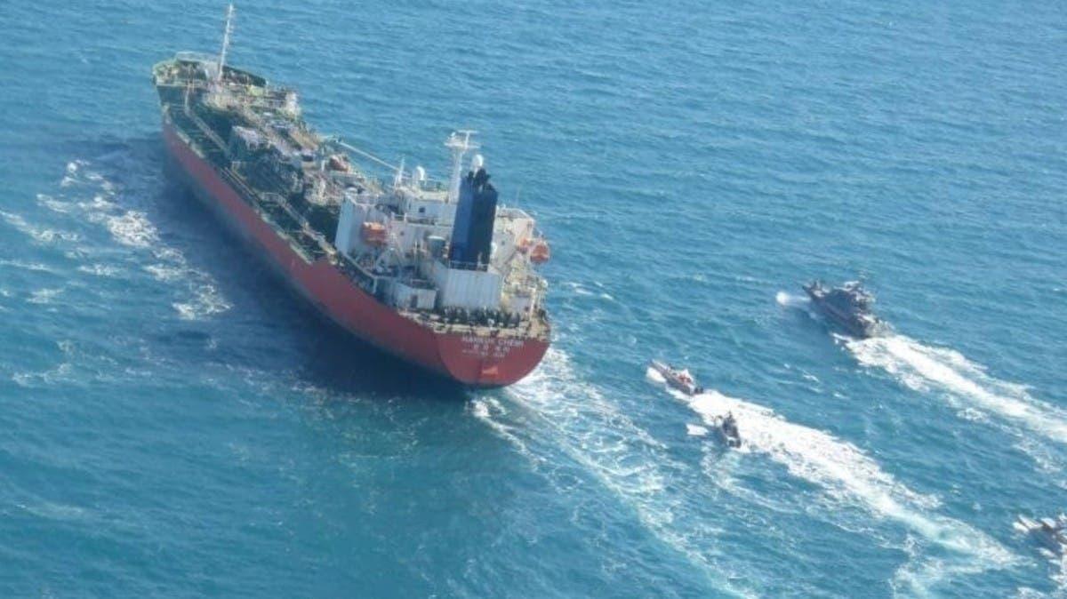 الحرس الثوري يحتجز سفينة لكوريا الجنوبية.. في مضيق هرمز