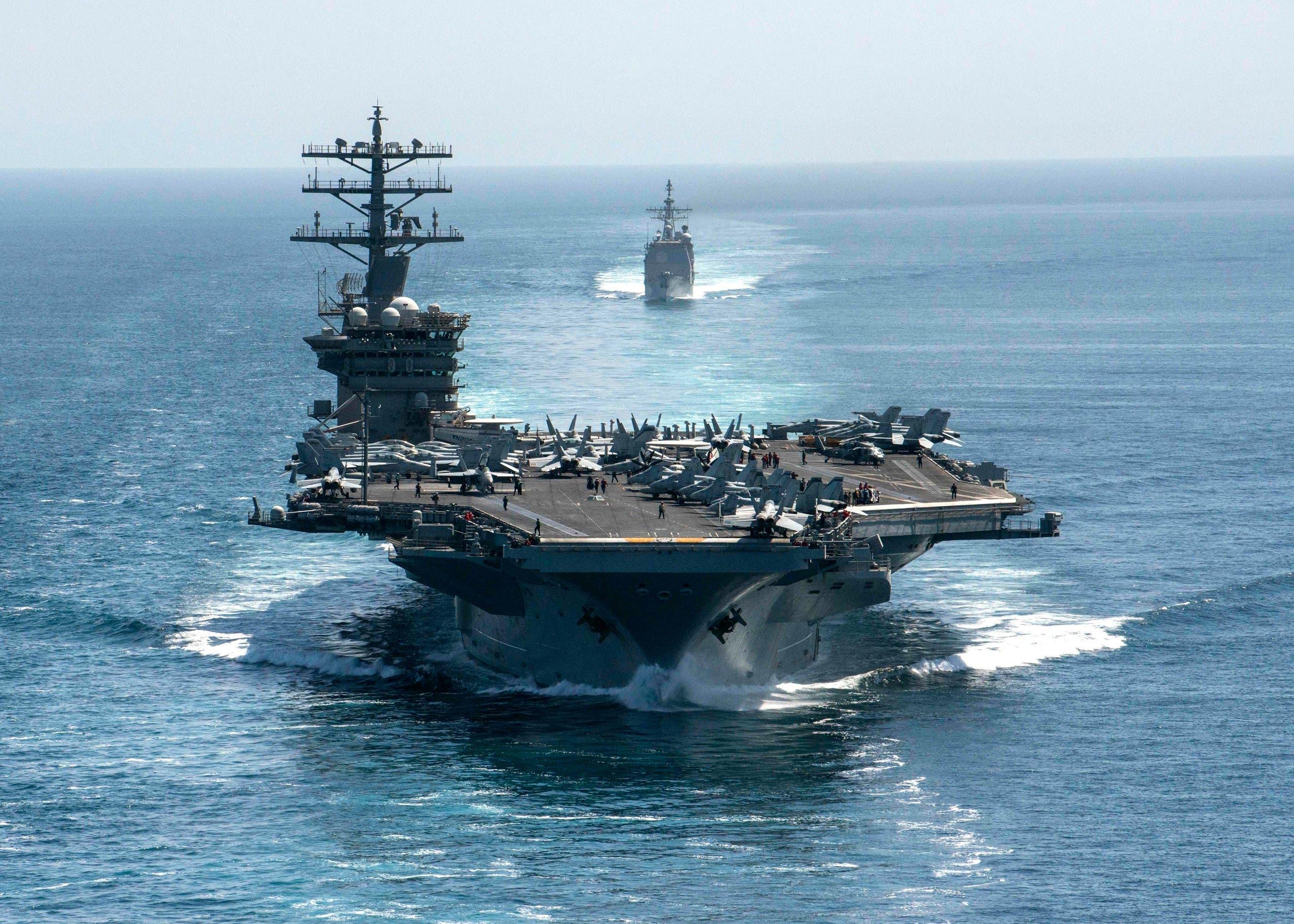 ناو هواپیمابر آمریکایی USS Nimitz (بایگانی - فرانس پرس)