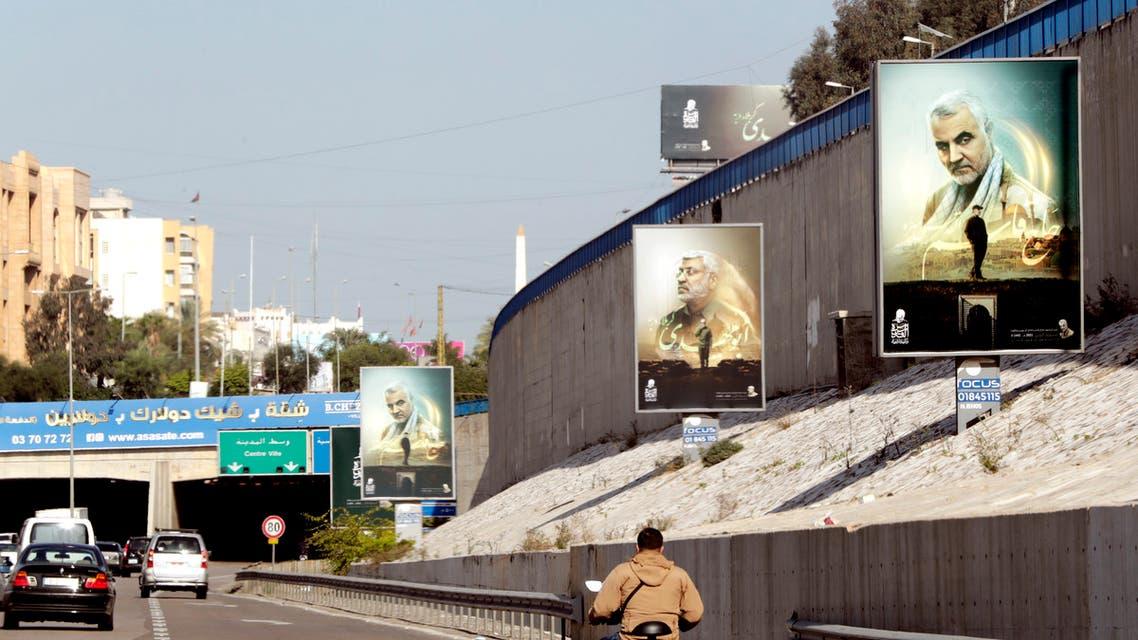 صور لسليماني على طريق المطار في بيروت (أشيفية- فرانس برس)