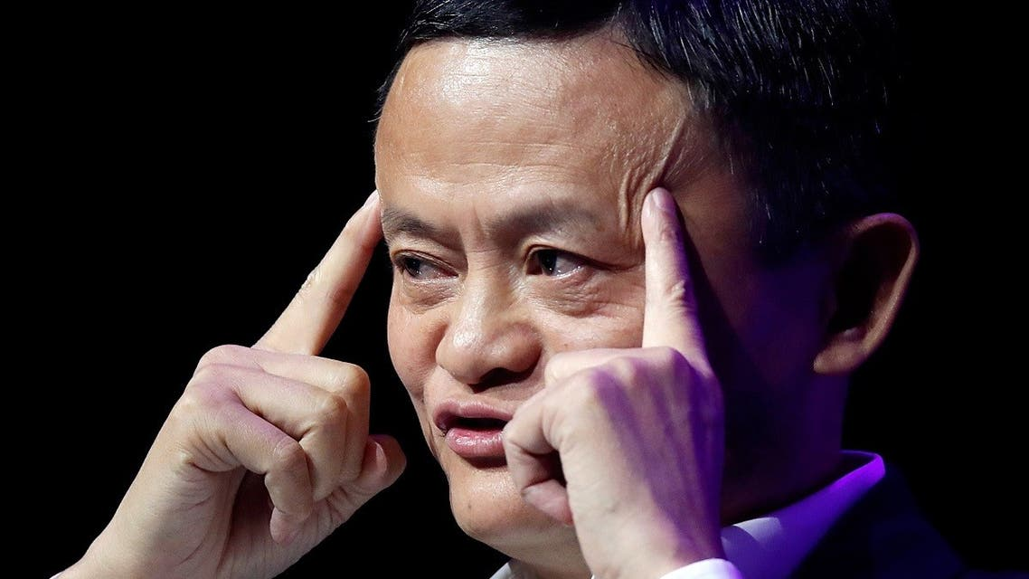 Founder and Chairman of Chinese internet giant Alibaba Jack Ma gives a speech at Paris' high profile startups and high tech leaders gathering, Viva Tech, in Paris, France, on May 16, 2019. (Reuters)