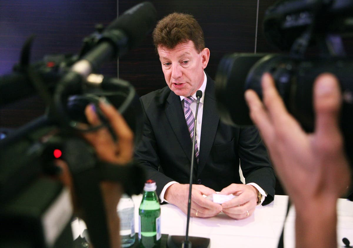 Paul Griffiths, CEO of Dubai Airports speaking to the media. (File photo: AP)