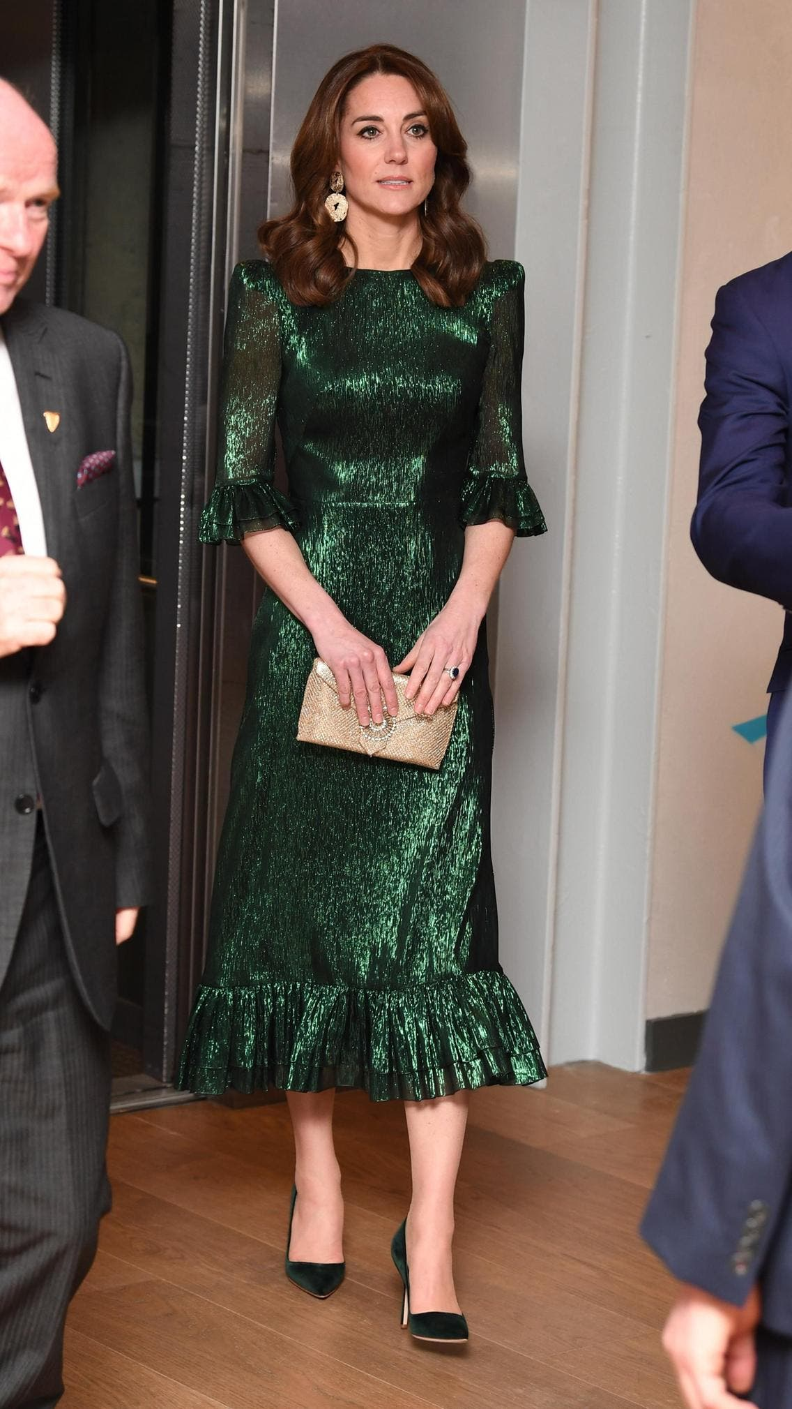 كايت بثوب أخضر برّاق ظهرت به في شهر مارس الماضي