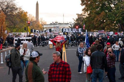 من تظاهرات سابقة في واشنطن