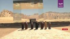 GCC leaders take family photo in front of Maraya Hall at AlUla Summit