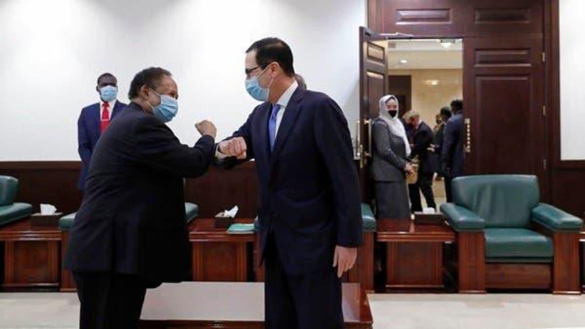Sudanese Pm With US Treasury Sec