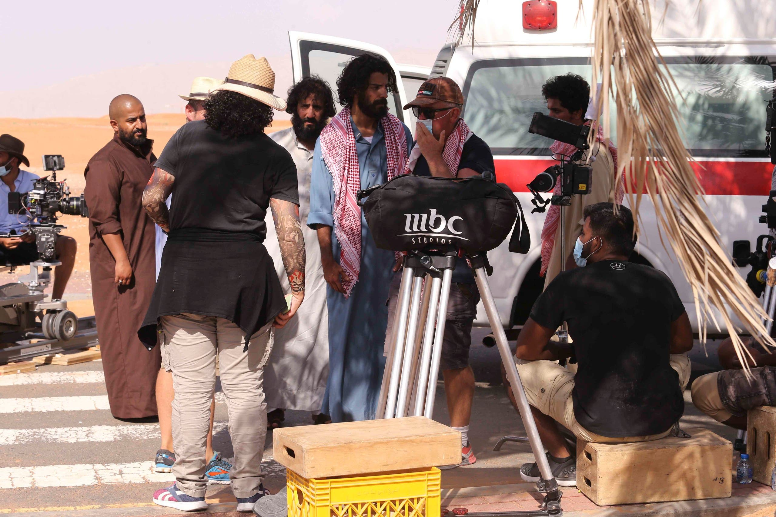 Behind the scenes image from Rashash TV series. (Supplied)