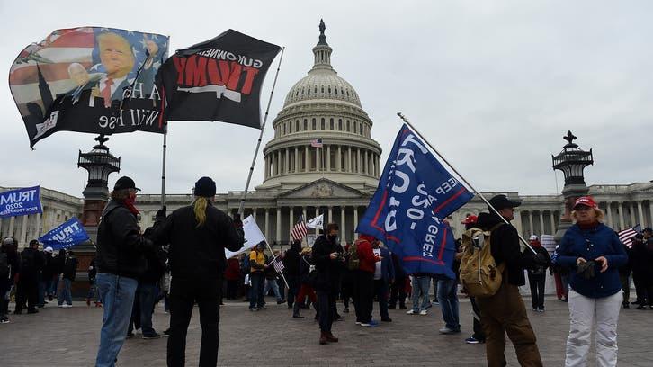 Trump supporters rally in Washington ahead of Congress meeting