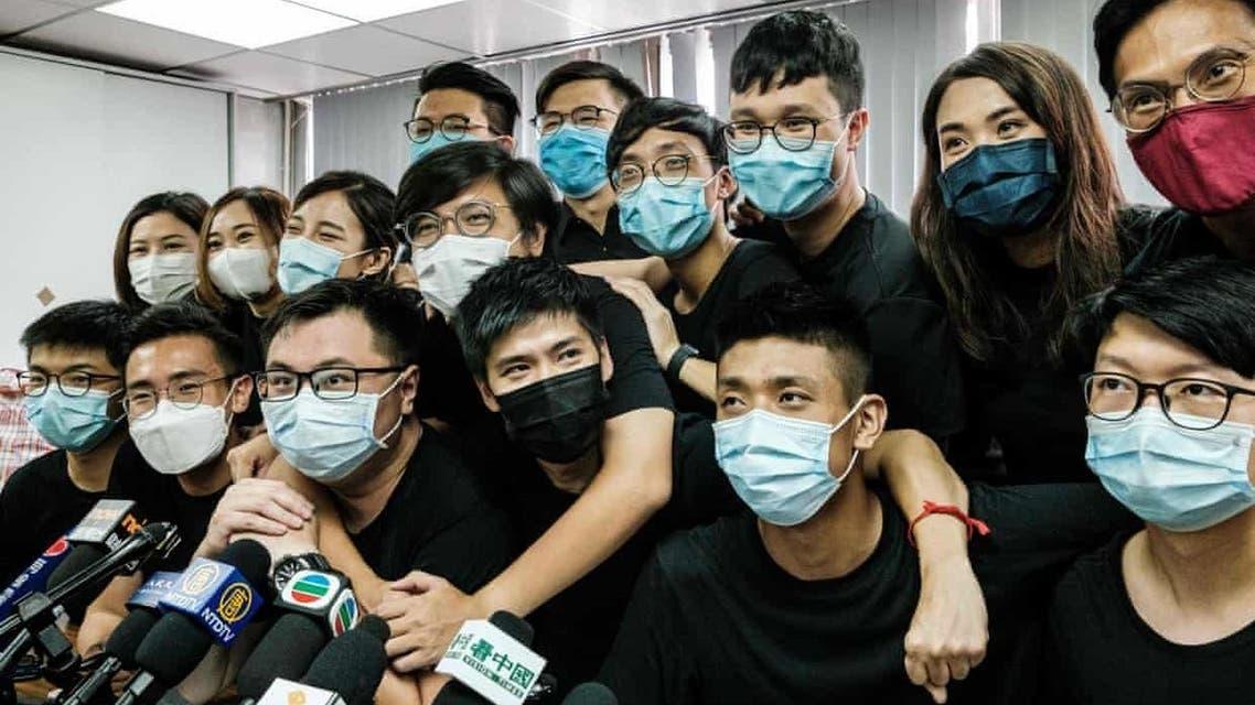 من نشطاء الحركة الاحتجاجية في هونغ كونغ