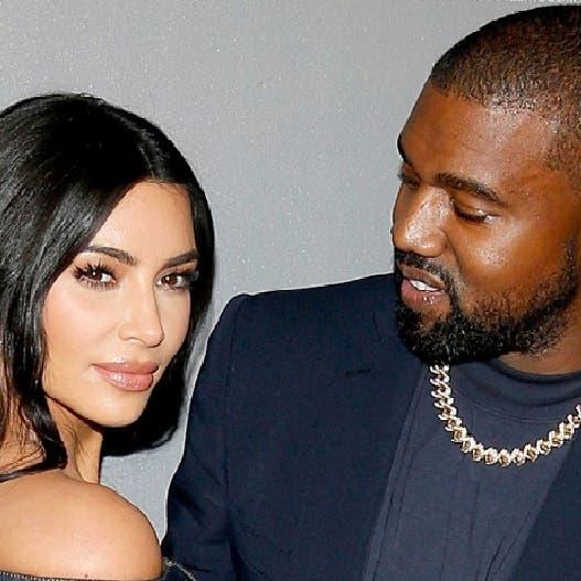 الطلاق يطرق باب كيم كارداشيان وزوجها مغني الراب الأميركي