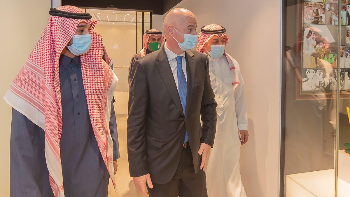 عبدالعزيز الفيصل يستقبل إنفانتينو