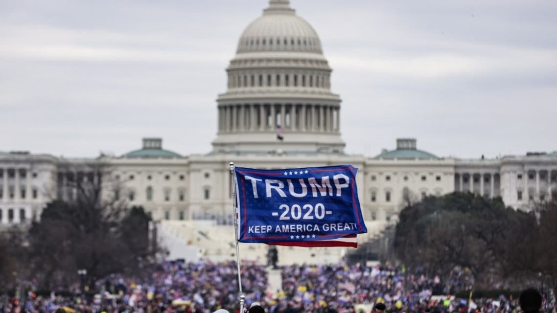 Pro-Trump supporters storm the US Capitol following a rally with President Donald Trump on January 6, 2021 in Washington, DC. (AFP)