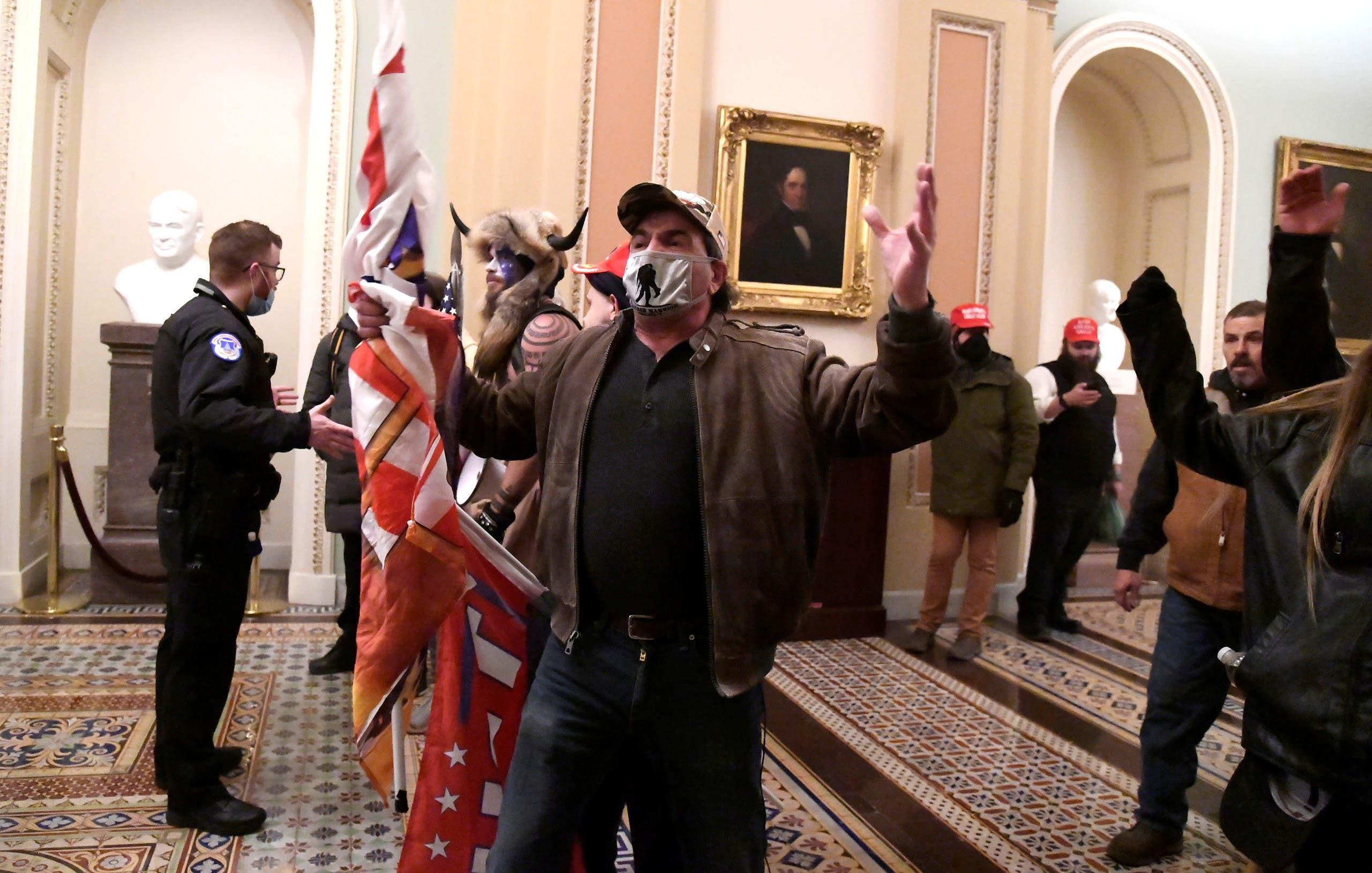من اقتحام مبنى الكونغرس في 6 يناير