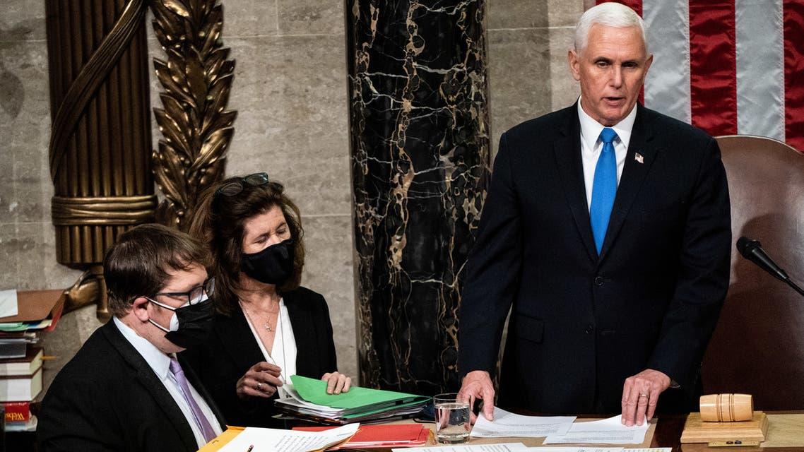 مايك بنس في  الكونغرس الأميركي (فرانس برس)