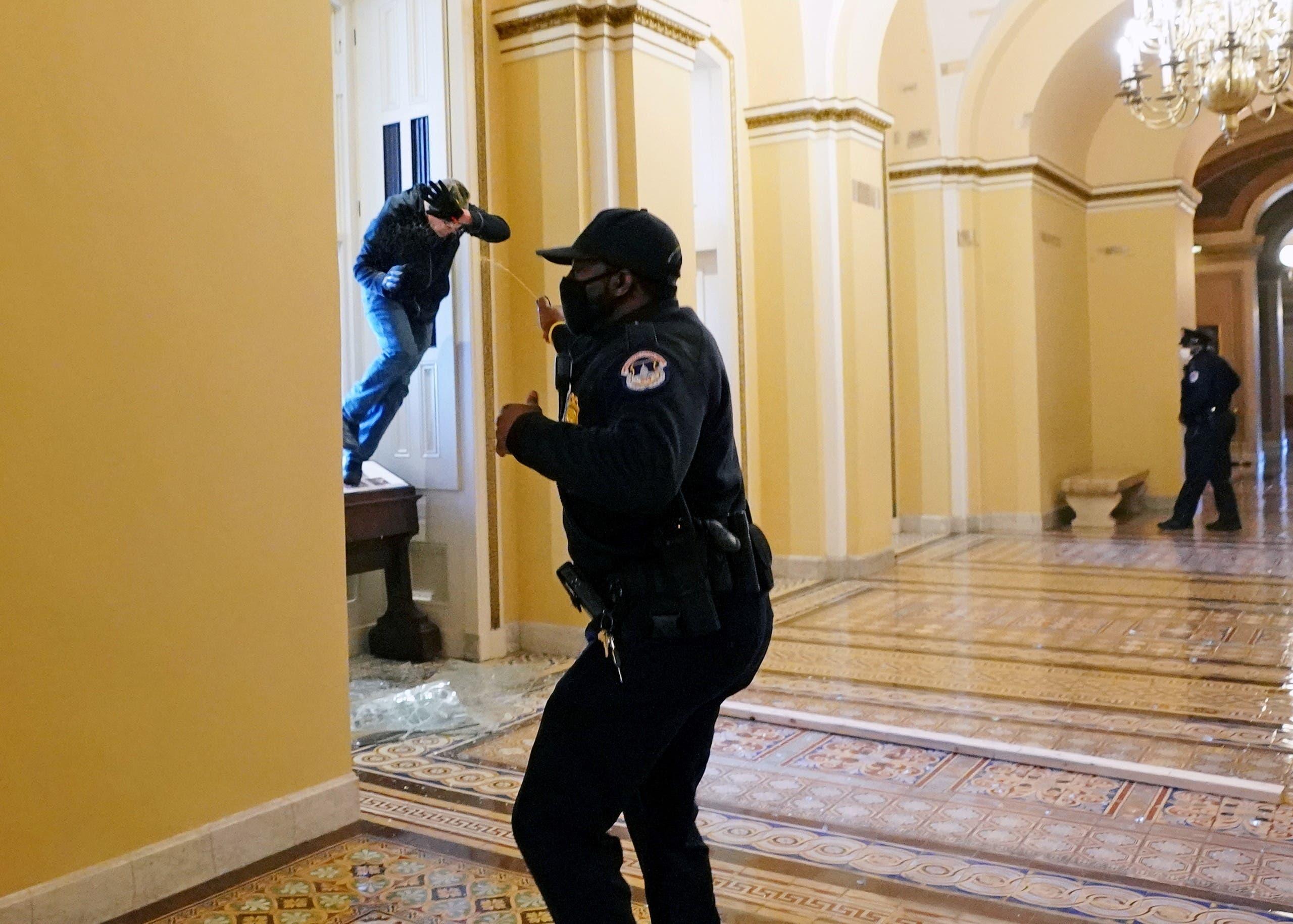 من داخل مبنى الكونغرس