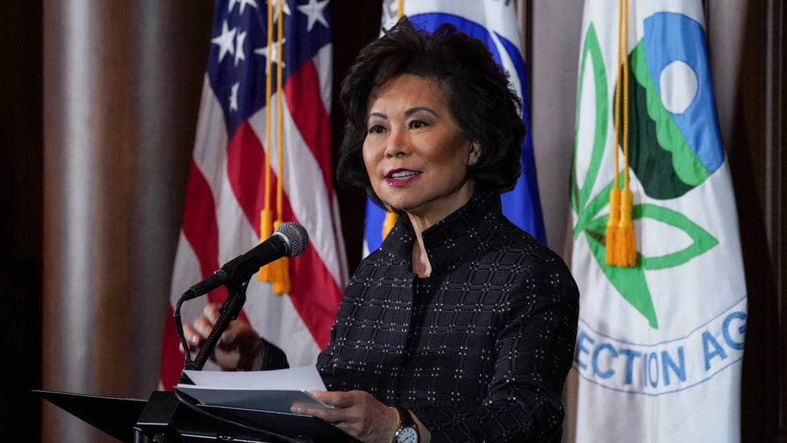 US Department of Transportation Secretary Elaine Chao speaks during a press conference in Washington, US on September 19, 2019. (Reuters)