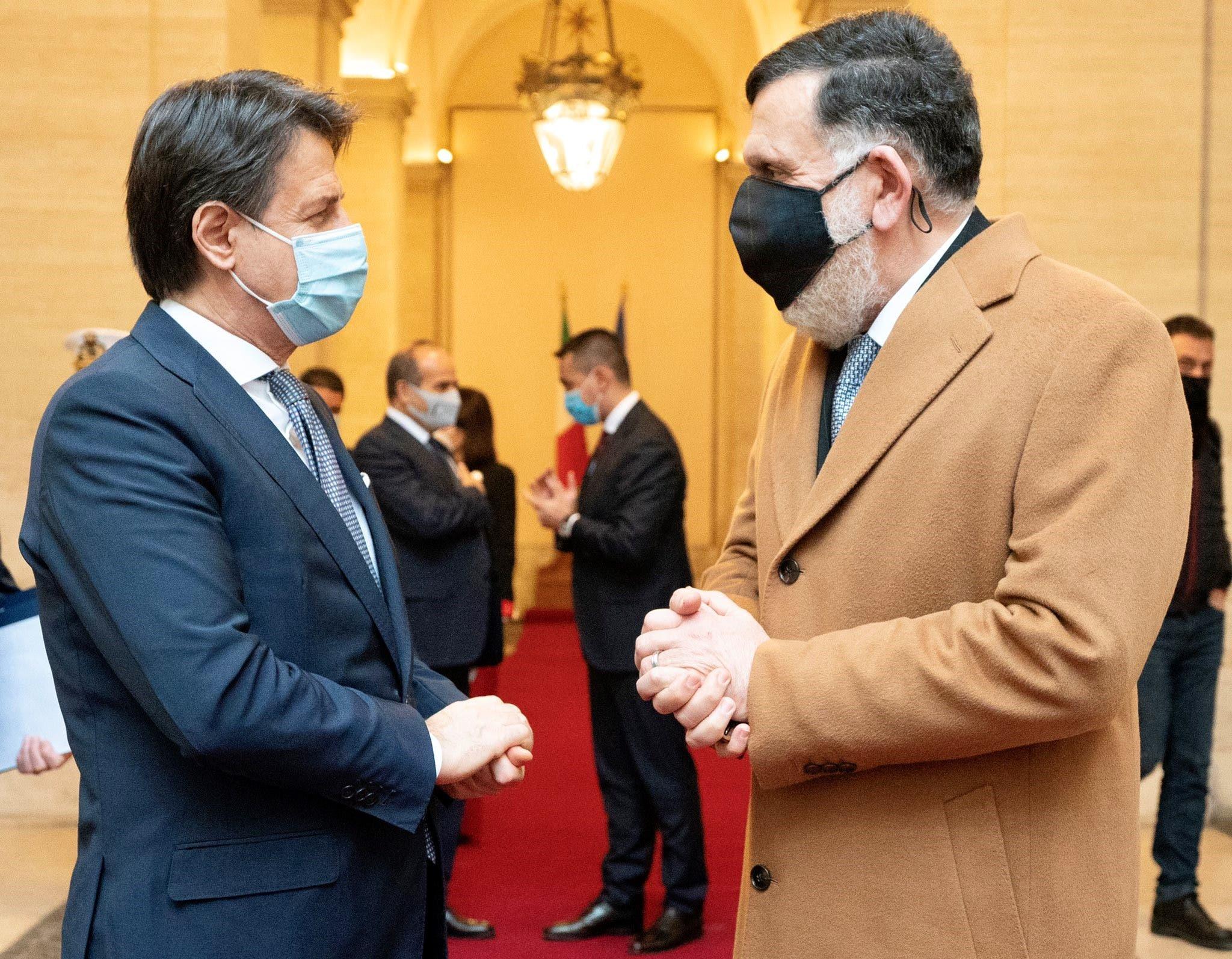 سراج و نخست وزیر ایتالیا جوزپه کنته