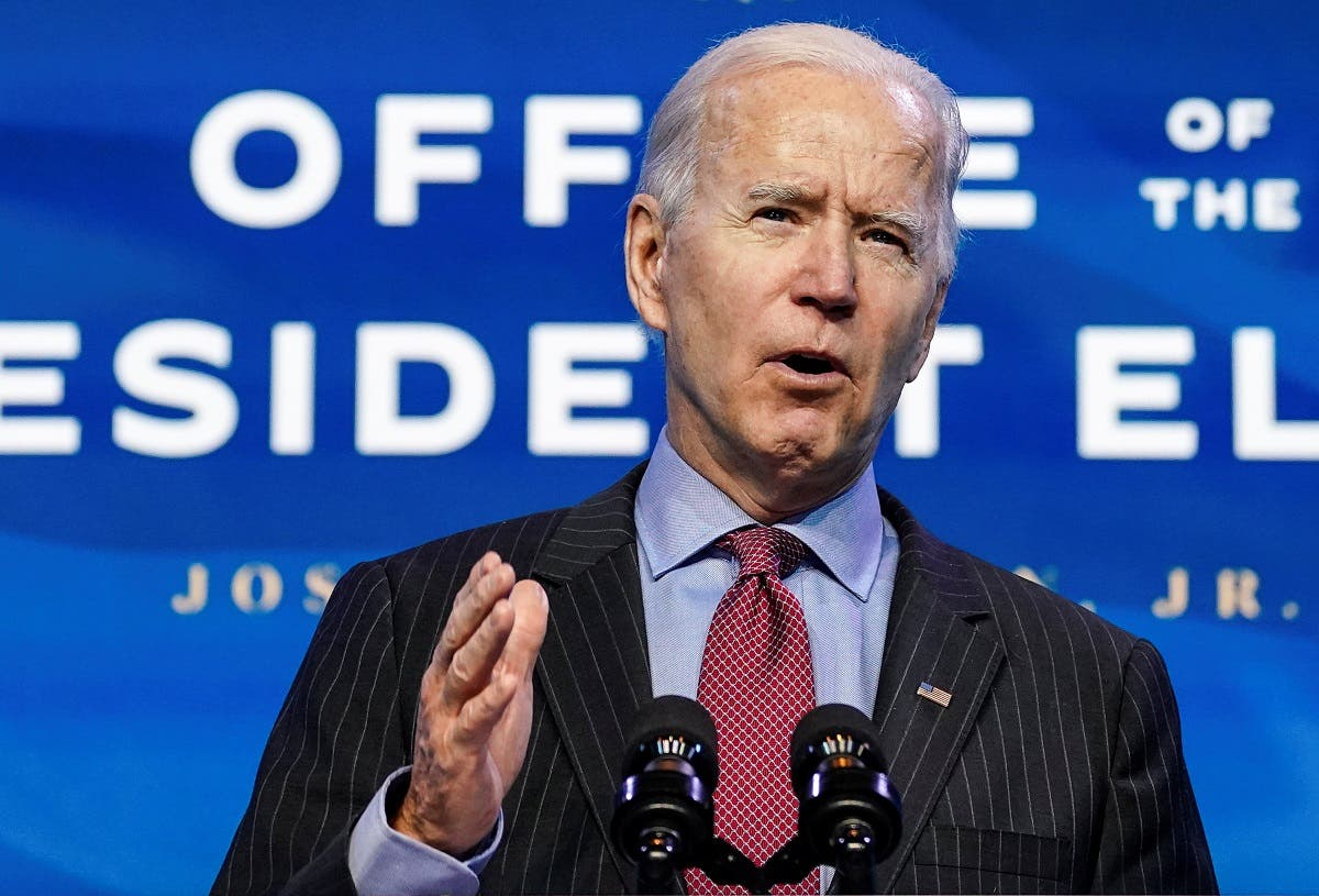 US President-elect Joe Biden speaks as he announces members of economics and jobs team at his transition headquarters in Wilmington, Delaware. (File photo: Reuters)