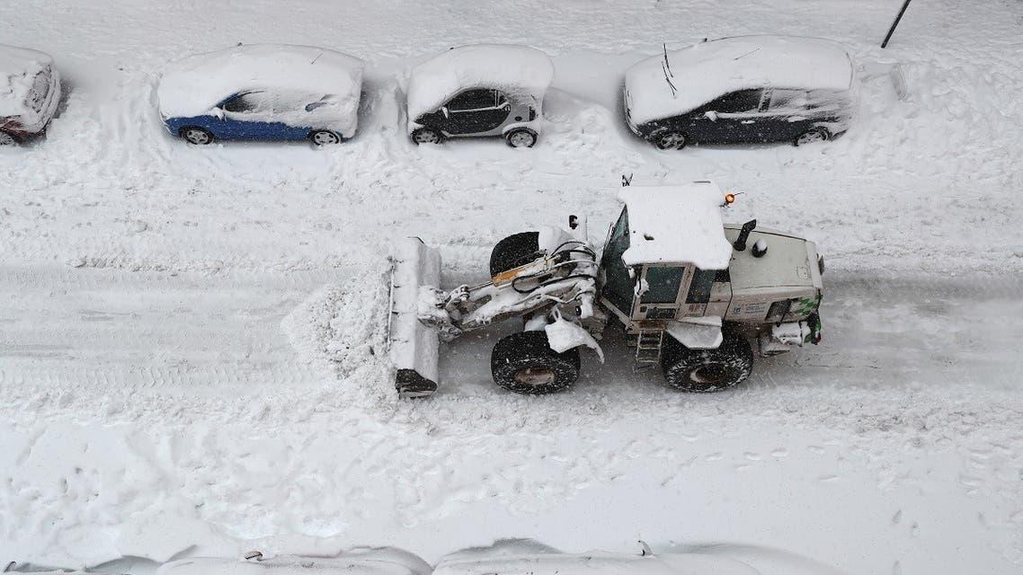 A snowstorm sweeps across Spain. (Reuters)