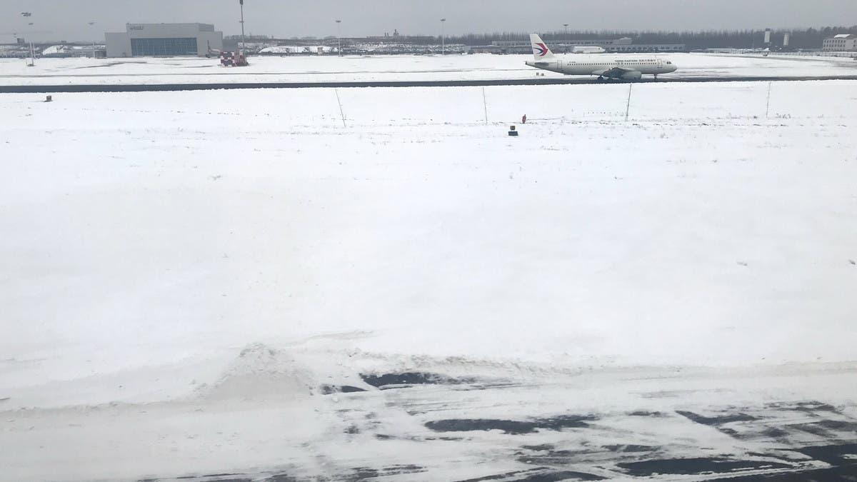 الثلوج تعطل رحلة ريال مدريد إلى بامبلونا