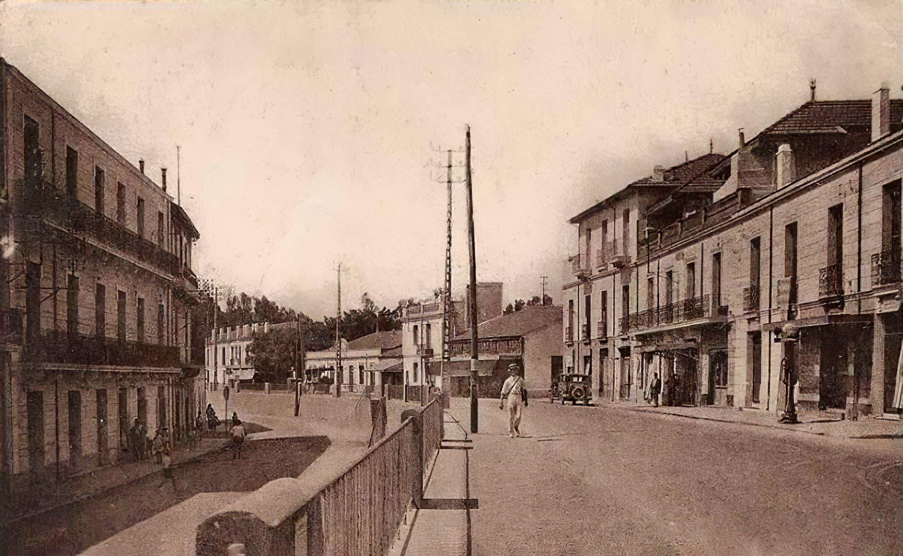 الحي الجزائري الذي ولد فيه عبدالرحمن عمراني فترة الاستعمار الفرنسي للجزائر