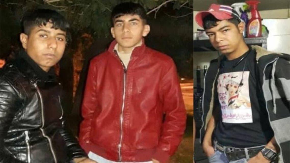 من الیسار: رعد الحمداني-قصي الخزرجي-سجاد دبّات