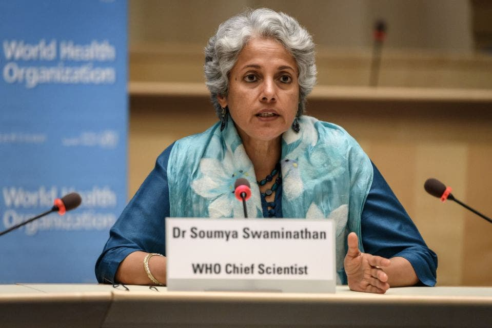 كبيرة علماء منظمة الصحة العالمية الدكتورة سوميا سواميناثان