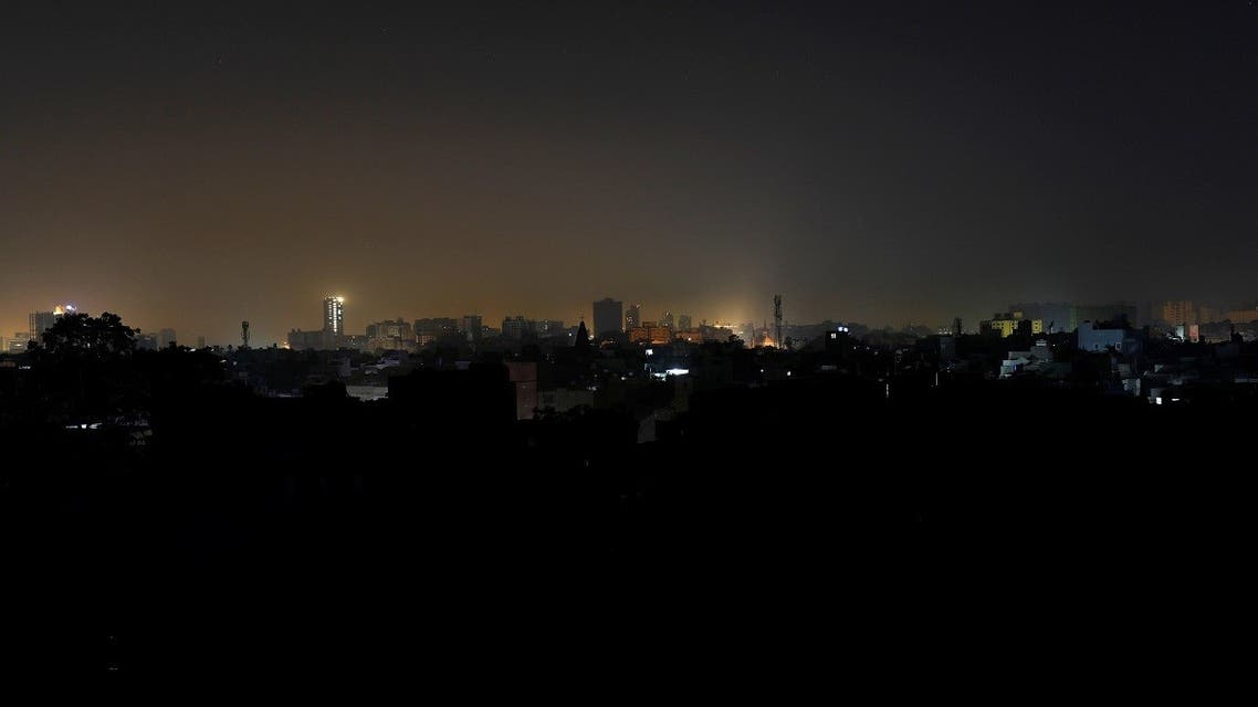 A general view of a residential area is seen during a power breakdown in Karachi. (Reuters)