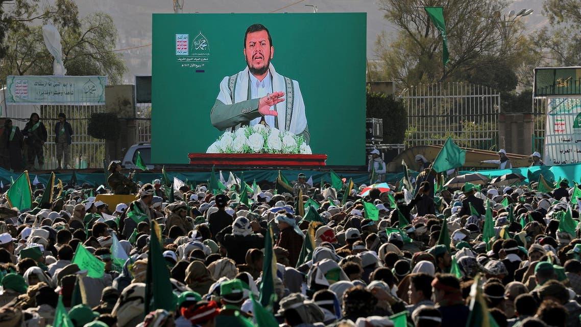 عبد الملك الحوثي يخطب في أنصاره