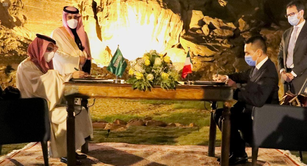 وزير الخارجية السعودي ووزير خارجية إيطاليا