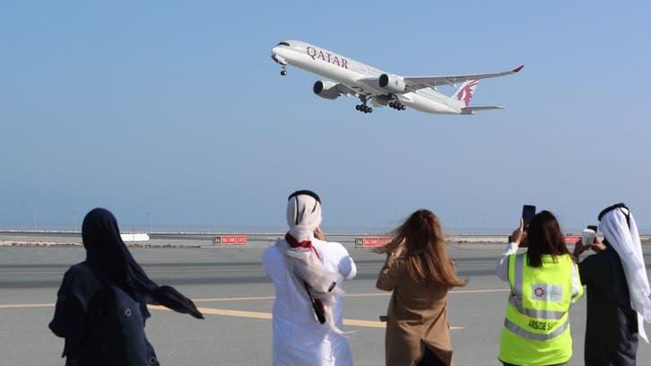 First Qatari flight arrives in Saudi Arabia's Riyadh from Doha